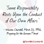 Some responsibility rests upon the conduct of our own affairs